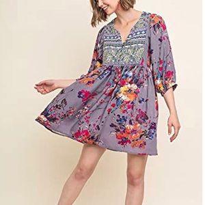 NWOT bohemian style flowy dress